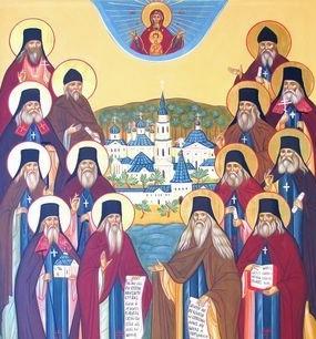 Празднование Собора всех святых в Оптиной пустыни просиявших (Оптинские старцы) 24 октября