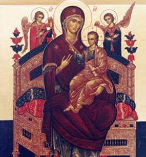 """у мироточивой иконы Божией Матери """"Всецарица"""""""