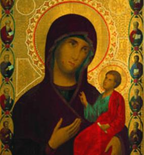 у Иверской иконы Божией Матери