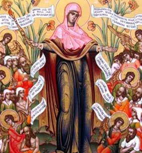 """у иконы Божией Матери """"Всех скорбящих радость"""""""