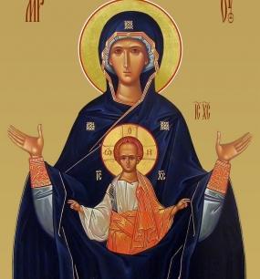 """у иконы Божией Матери """"Знамение"""""""