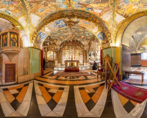 Храм Гроба Господня в Иерусалиме. 3d тур. Голгофа. Придел Распятия.