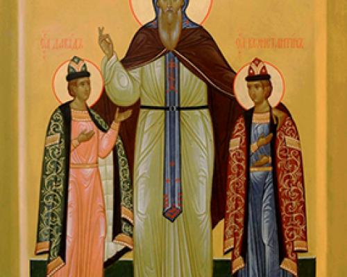 Блгв. кн. Константин (Ярослав) и чад его Михаила и Феодора, Муромских чудотворцев