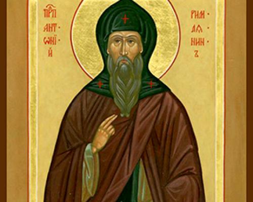 Прп. Антония Римлянина, Новгородского чудотворца