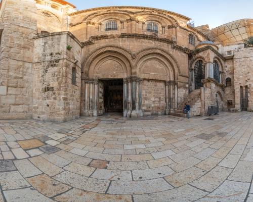 Храм Гроба Господня в Иерусалиме. 3d тур. Святой двор