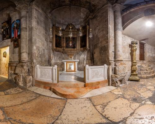 Храм Гроба Господня в Иерусалиме. 3d тур. Предел Поругания: Камень Бичевания, Возложения Тернового Венца