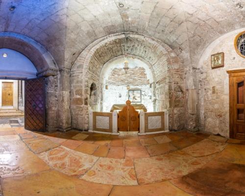 Храм Гроба Господня в Иерусалиме. 3d тур. Часовня Главы Адама.