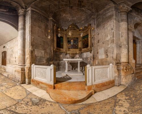 Храм Гроба Господня в Иерусалиме. 3d тур. Придел Лонгина
